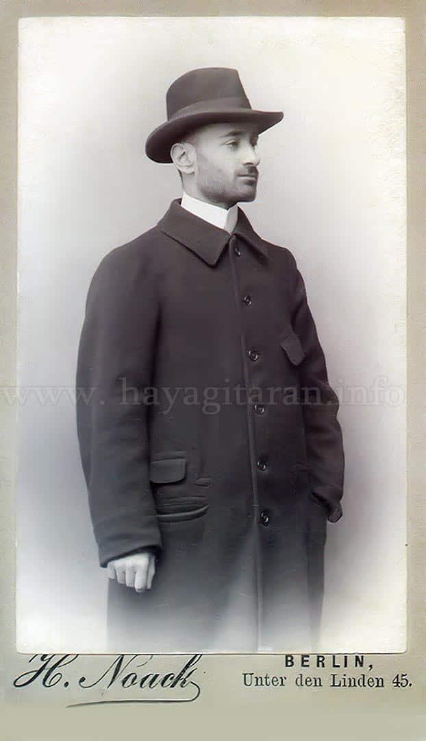 Կոմիտաս, 1896, 3 օգոստոսի, Բեռլին - Komitas, August 3,1896, Berlin