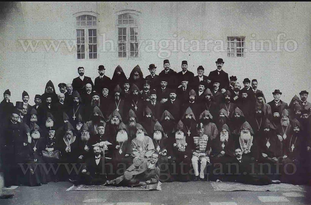1908թ․ կաթողիկոսական ընտրութիւնների պատմագաւորները - The participants of the elections of the Catholicos in 1908