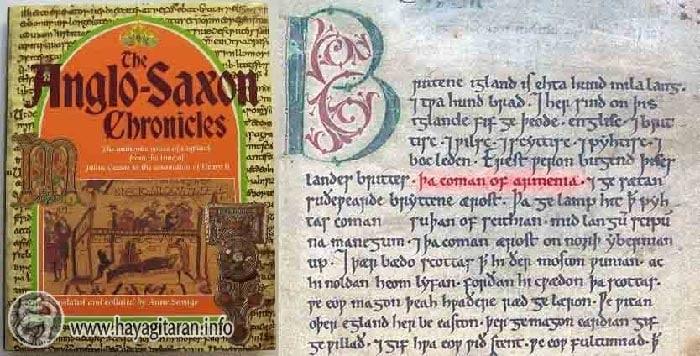 «Կղզում առաջին բնակիչները եղել են բրիտները, ովքեր եկել են Հայաստանից»: - Anglo-Saxon Chronicle