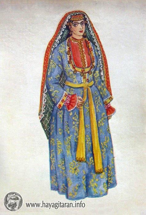 Պարսկահայուհու տարազ, 18-րդ դ․ , Նկ․ Ֆ․ ԳրիգորյանCostume of an Armenian living in Persia 18th century , Paintet by F. Grigorian