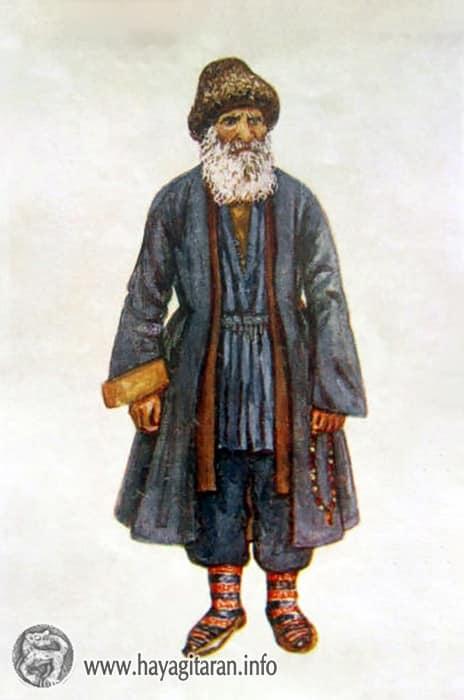 Լոռի - Գուգարք, տղամարդու տարազ 19-րդ դ․ , Նկ․ Ֆ․ ԳրիգորյանLori - Gugark Men's Costume 19th century , Paintet by F. Grigorian